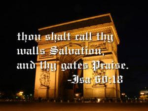 あなたの城壁は救い、城門は栄誉-イザヤ6章18節