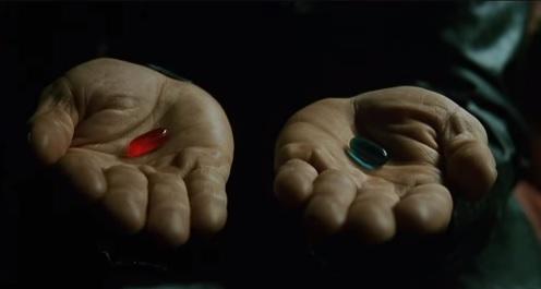 あなたは赤いカプセルそれとも青いカプセル?
