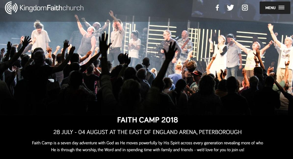 英国Kingdom Faith CAMP 2018のプロモビデオ