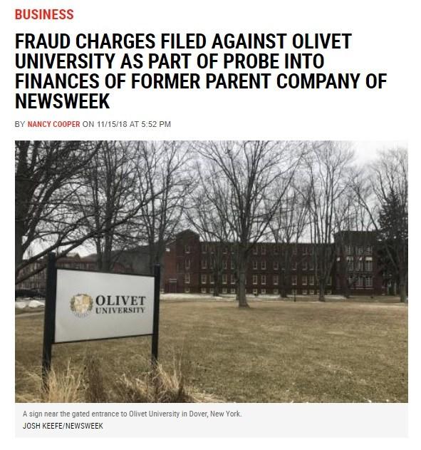 クリスチャン・トゥデイのダビデ張の牙城オリベット大学も起訴さる